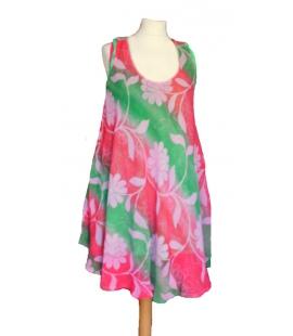 Robe tunique vert rose