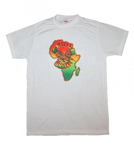 T-shirt Rasta blanc Africa Unite