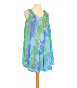 Robe tunique vert bleu