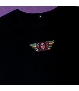 T-shirt rasta noir ange femme