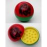 Grinder 2 parts acrylique couleurs rasta