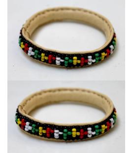 Bracelet rasta cuir perles Mali