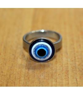 Bague œil bleu grec
