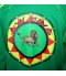 Veste rasta verte Lion Jah King detail