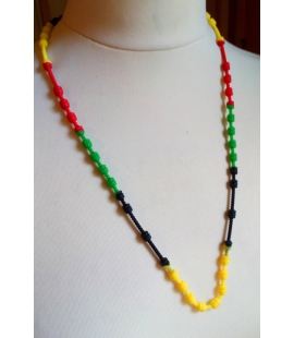 Collier couleurs rasta silicone
