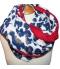 Grand foulard imprime leopard bleu 2