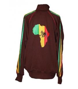 Veste rasta marron Lion Africa