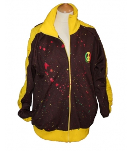 Veste rasta marron Peace