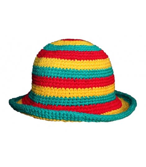 Chapeau coton couleurs rasta