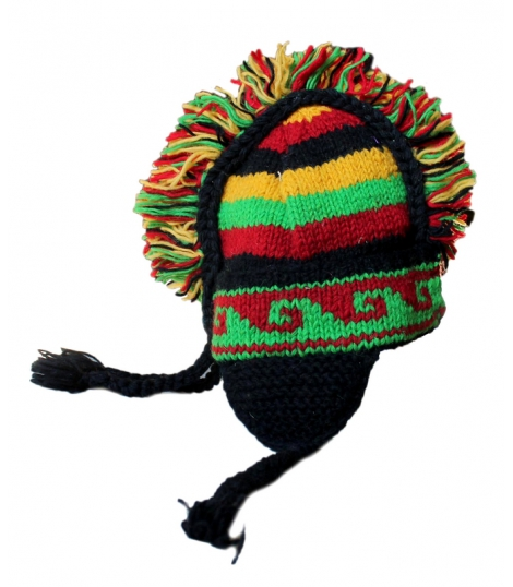 Bonnet pure laine couleurs rasta
