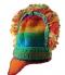 Bonnet Nepal orange pure laine droite