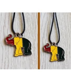 Pendentif elephant couleurs rasta