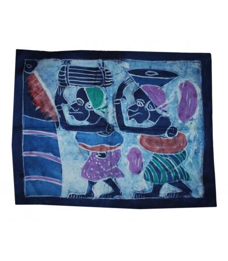 Petit batik africain bleu
