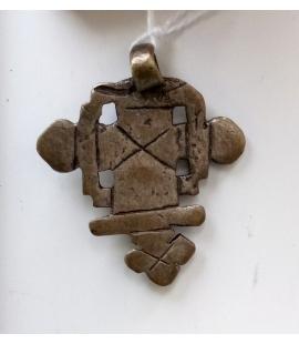 Croix pendentif Ethiopie artisanat alliage