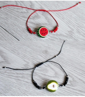 Bracelet adaptable pasteque ou poire
