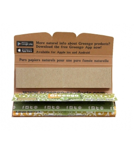 Papier a rouler naturel King size Slim Greengo plus cartons