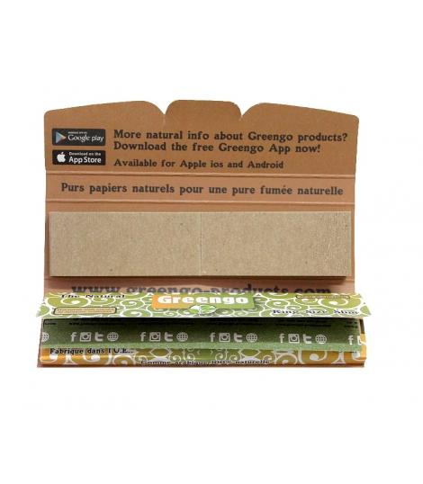 Papier a rouler naturel King size Slim Greengo plus cartons