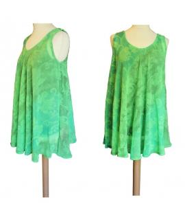 Robe courte tunique verte