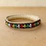 Bracelet cuir et perles du Mali