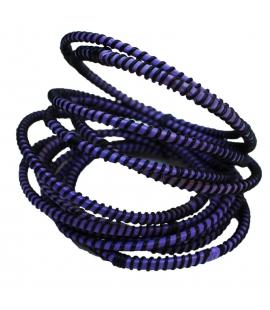 Lot de quatre bracelets mauves artisanat Mali