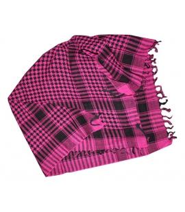 Keffieh foulard coton rose