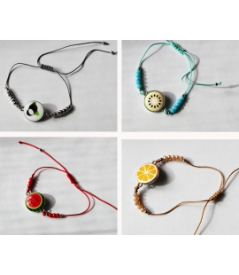 Choix petits bracelets medaillon fruit