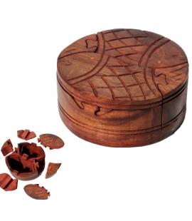 Boîte puzzle en bois poissons