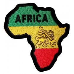 Patch Rasta carte d' Afrique en tissu