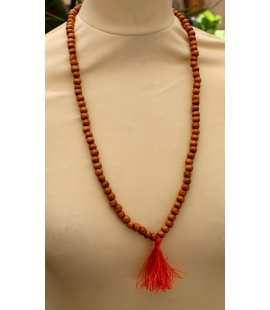 Collier mala perles bois naturel