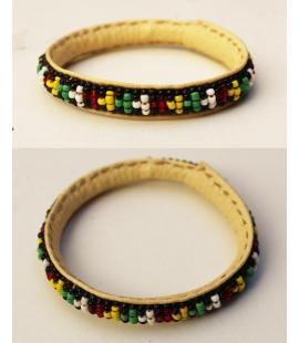 Bracelet Rasta cuir et perles Mali