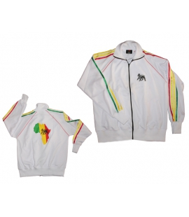 Veste survetement Rasta Lion et Africa