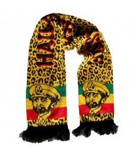 Echarpe Haile Selassie couleurs Rasta