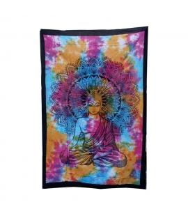 Tenture Budha multicouleurs
