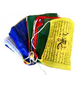 Guirlande 25 drapeaux à prières tibétains