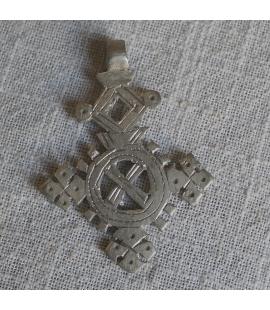 Croix ethiopienne orthodoxe en alliage