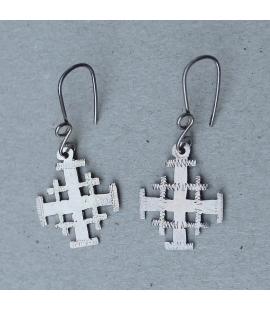 Boucles oreilles en Croix argent Ethiopie