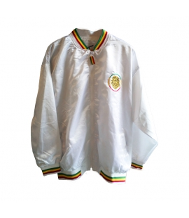Veste survetement Rasta Lion satinee blanche