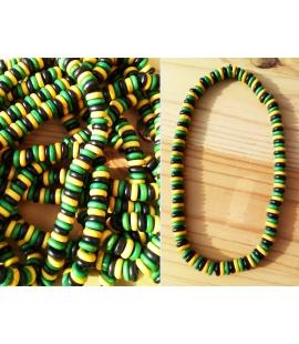 Collier elastique couleurs Jamaique