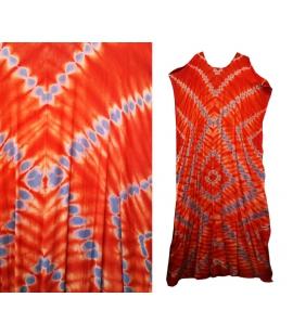 Robe africaine extra-longue orange