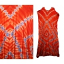 Robe africaine extra-longue orange