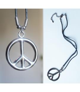 Collier pendentif metal Peace Paix