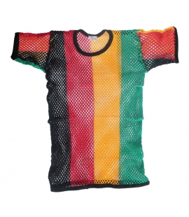 Tshirt filet maille aeree couleurs Rasta