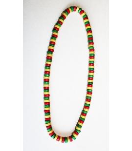 Collier Rasta elastique petites perles bois