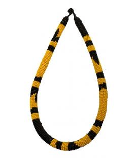 Collier africain du Mali jaune et noir