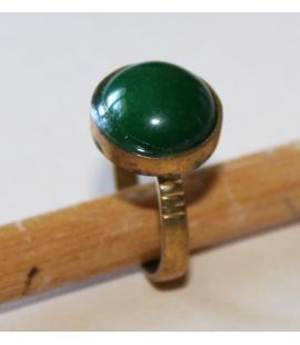 Bague Touareg bronze et onyx vert