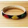 Petit bracelet cuir perles Mali