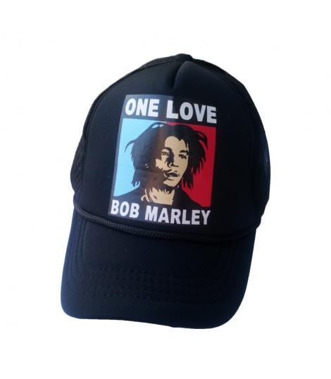 Casquette baseball noire Bob Marley
