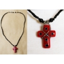 Creation originale collier croix verre de Murano