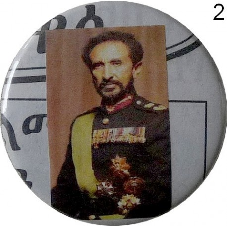 Grands badges Rasta de Sa Majesté Impériale Haile Selassie I