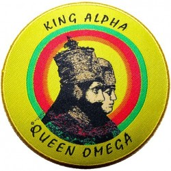 Patch King Alpha Queen Oméga